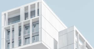 White building architecture wall weathering colour gloss shine testing